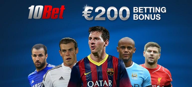 Бонус от 10Bet в 200 евро за первую ставку