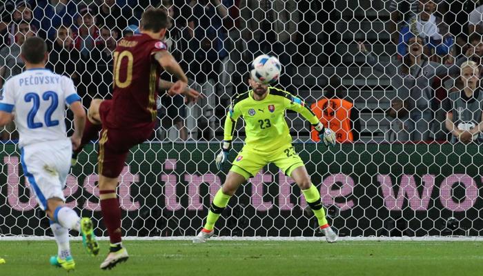 Россия на Евро-2016 заняла первое место по количество пропущенных мячей
